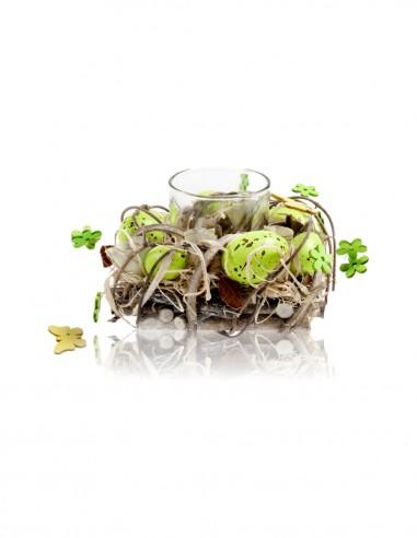 Composizione nido piccola verde